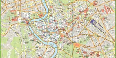 Mapa De Roma Turistico.Roma Mapa Mapas De Roma Lazio Italia