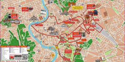 Roma hop on hop off bus tour mapa